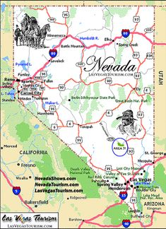 Map Of State Of Nevada With Outline Of The State Cities Towns - Us map cities and towns