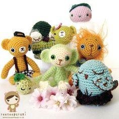 Crochet animals, by head!!