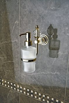 Golden inpirations of bathroom - MARE is special and luxury collection which will be unforgettable. Golden dispenser from Mare Collection  www.sancodesign.co.uk