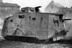 """""""A7V Sturmpanzerwagen"""" - Was an """"Imperial Army"""" WW 1 Heavy Tank - Crew: 18 (Commander, Driver, Mechanic, Mechanic/Signalman, 12 Infantrymen (6 Machine Gunners & 6 Loaders), Artillery Gunner and Loader) Armament: (1 x 57mm Gun and Six 7.9mm Machine Guns) They Were the Only Tanks Produced by Germany in WW I to be Used in Combat - 100 Ordered only 20 Delivered However, German Troops did Manage to Capture and make use of a Number of Allied Tank (1)"""