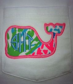 Lilly Pulitzer monogrammed whale tee.