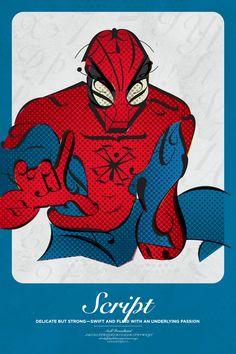 el diseño tipográfico recrea nuestros superhéroes predilectos - filmin