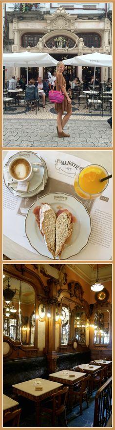 "Cafe Majestic de estilo ""Art Noveau"", ideal para desayunar o tomar café por la tarde Portugal, Coffee, Blog, Travel, Hotels, Restaurants, Port Wine, June, Cities"