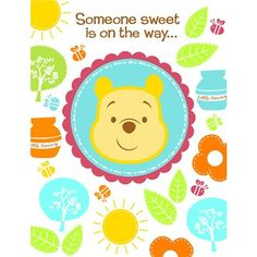 Save $1.46 On Disney Pooh Little Hunny Bunny Baby Shower Invitations (8  Count) Party