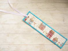 Bookmark fabric unique little houses or flower by poppyshome, €5.00