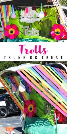 Trolls Trunk or Treat! The Poppy costume is the best part! | Halloween Decor | Home with the Hoovers | #trunkortreat #trolls #trollstrunkortreat #poppy #halloween #trickortreat #trollscostume #trollshalloween #homewiththehoovers