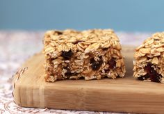 """Peanut butter & """"jelly"""" granola squares"""