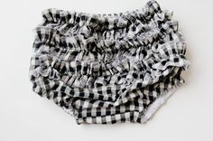ruffle butt diaper cover  gingham style // serged ruffle bum diaper cover tutorial - see kate sew