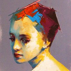 SS Painting People, Figure Painting, Modern Portraits, Outsider Art, Pastel, Watercolor, Abstract, Awesome, Inspiration