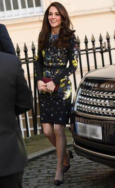 Kate Middleton in a floral Erdem dress
