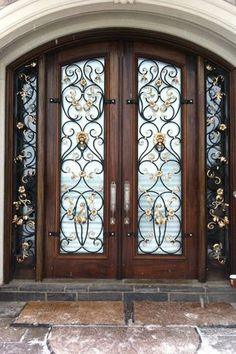 Wrought Iron Design Custom Wrought Iron Accessories Ornamental Iron Home Decor - Stylehive Doors Interior, Iron Door Design, Modern Exterior, Wrought Iron Decor, Cool Doors, Iron Doors, Modern Exterior Doors, Wrought Iron Design, Doors