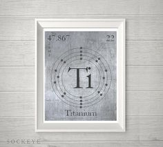 Metal Science Poster Element Print Home Playroom by SockeyeDesigns, $10.00