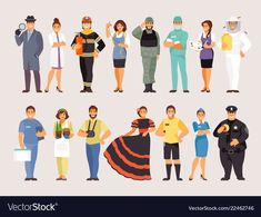 Buy Collection of Professions Part 3 by artbesouro on GraphicRiver. Group of people of different professions, part Vector characters Vector Characters, Single Image, Vector Free, Adobe Illustrator, Illustration, Filters, People, Pdf, Group