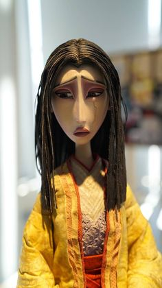 """The mom from """"Kubo and the Two Strings"""" stop motion movie. 3d Model Character, Character Art, Character Design, Character Concept, Clay Animation, Animation Stop Motion, Stop Motion Movies, Laika Studios, Disney Pixar"""