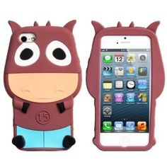 Lovely Cattle Pattern Silicon Case for iPhone 5