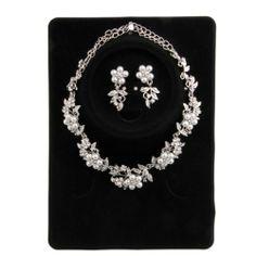 Silver Plated Flowers Crystal Bridal Rhinestone Pearl Necklace Stud Earrings Set Epower Mall,http://www.amazon.com/dp/B00DYQHPTG/ref=cm_sw_r_pi_dp_sV03sb0EKCFSRPQP