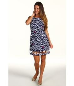 Delia Dress in Bright Navy Ahoy There by Lilly Pulitzer $198
