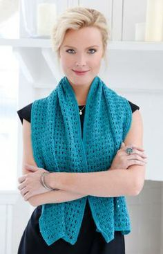 Evening Shawl Free Crochet Pattern from Red Heart Yarns