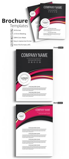 Brochure Cover Layout with Pink and Yellow Accents 1 - image | Adobe Stock #Brochure #Business #Proposal #Booklet #Flyer #Template #Design #Layout #Cover #Book #Booklet #A4 #Annual #Report| Brochure template | Brochure design template | Flyers | Template | Brochures | Flyer Background | Background design | Business Proposal | Proposal Design | Booklet | Professional | Professional - Proposal - Brochure - Template