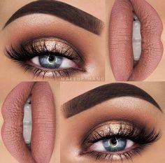 ideas birthday makeup looks eyeshadows make up Makeup Goals, Makeup Inspo, Makeup Inspiration, Makeup Tips, Beauty Makeup, Makeup Ideas, Beauty Tips, Makeup Eye Looks, Pretty Makeup