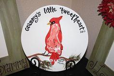 Grammy's Little Tweetheart Footprint Plate Idea