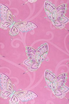 Ancho rollo Pink Wallpaper Butterfly, 3d Wallpaper Love, Butterfly Background, Pretty Phone Wallpaper, Phone Screen Wallpaper, Wallpaper Samples, Pink Butterfly, Cellphone Wallpaper, Pattern Wallpaper