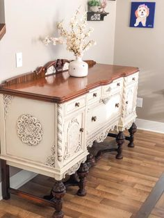 Chalk Paint Furniture, Diy Furniture, Painted Buffet, Sideboard, Dining Room, Chalk Painting, Cabinet, Storage, Console