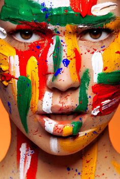 Creative Color, Beautiful, Makeup, Body, and Painting image ideas & inspiration on Designspiration Paint Photography, Face Photography, Photography Women, Fashion Photography, Tattoo Prices, Make Up Art, Airbrush Art, Face Art, Body Art Tattoos