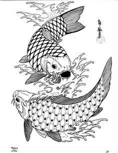 Diseños de Tatuajes: Peces Koi