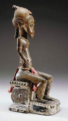 Baule Asie Usu Figure, Ivory Coast http://www.imodara.com/item/ivory-coast-baule-asie-usu-bush-spirit-figure/