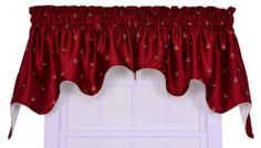 Ellis Curtain Fleur Di Lis Faux Silk Lined 2-Piece Duchess Valance Window Curtain, Red by Ellis Curtain. $43.99. The Fleur-Di-Lis emblem is embroidered onto the fabric for even more of a sophisticated and textured look. Width is measured overall 100-inch (both 50-inch panels together) Length is measured overall 30-inch from header top (ruffle above the rod pocket) to bottom of panel. Constructed with 3-inch rod pockets, 2-inch header and decorative binding to add...