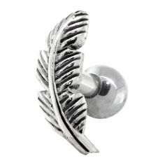 RIGHT EAR - Nature Leaf Sterling Silver Cartilage Piercing...   Shop fashion, accessories,luxury  Kaboodle