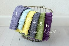 Peas and Quiet Ready to Ship Stretch Ruffle Wrap Mini Blanket for Newborn Infant Photography. $11.00, via Etsy.