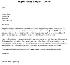 Writing A Request Letter For Salary Increment With Sample