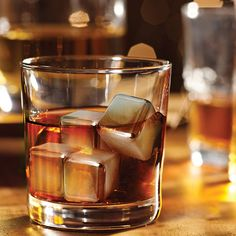 Stainless Steel Ice Cubes Set of 6 by Epicureanist - Freeze the reusable, food-safe stainless steel cubes and add them to your drinks for instant cool. These sleek and durable cubes will do your top shelf spirits and delicious drinks justice by cooling them without diluting or altering their taste one bit. $35 !!
