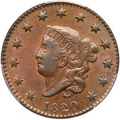 1820 N-4 R4 Small Date PCGS graded AU55, CAC Approved Lustrous tan and light steel brown with hints of underlying… / MAD on Collections - Browse and find over 10,000 categories of collectables from around the world - antiques, stamps, coins, memorabilia, art, bottles, jewellery, furniture, medals, toys and more at madoncollections.com. Free to view - Free to Register - Visit today. #Coins #US #LargeCents #MADonCollections #MADonC
