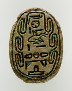 Hyksos Scarab of the Vizier Minhotep