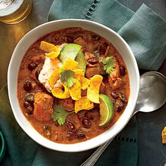 Pork-and-Black Bean Chili - Simple Slow-Cooker Recipes - Southern Living