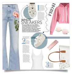 """""""White Sneakers Fresh & Easy"""" by diane-888 ❤ liked on Polyvore featuring Marc Jacobs, Gucci, Natasha Zinko and whitesneakers"""