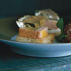 Foie Gras Toasts with Sauternes Geleé Recipe