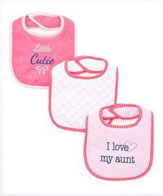 Luvable Friends Pink I Love My Aunt Drooler Bib Set | zulily