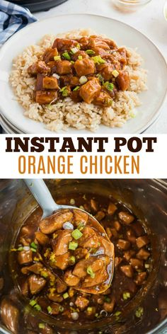 Orange Chicken that's so much better than takeout! Tender chicken bites tossed in sticky sauce and citrus glaze is a kid-friendly meal that you can make in the Instant Pot any night of the week.