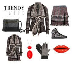 """""""sensual tweed"""" by iummelans ❤ liked on Polyvore featuring Donna Karan, Thakoon, New Directions, Hogan Rebel, Liz Claiborne, Isotoner, women's clothing, women, female and woman"""
