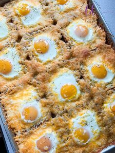 """Our wildly viral Cheesy Baked Egg got an upgrade with this Sheet Pan Cheesy Baked Egg Toast recipe! The classic """"egg in a hole"""" recipe just got a huge makeover to make it easier and cheesier! Gourmet Recipes, Cooking Recipes, Healthy Recipes, Drink Recipes, Best Toasts, Breakfast Dishes, Breakfast Egg Recipes, Egg Dinner Recipes, Breakfast Ideas"""