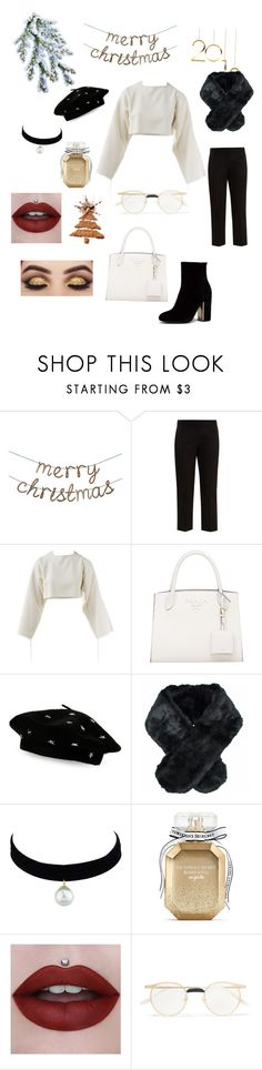 """""""Merry Christmas"""" by christinafashion1 ❤ liked on Polyvore featuring Alexander McQueen, Steve Madden, Jeanne Simmons, Victoria's Secret, Gucci, Christmas, chic and Elegance"""
