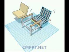 pallet chair design / fa szék terv - YouTube