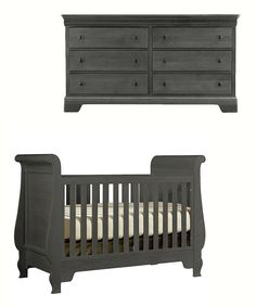 Graphite Grand Sleigh Crib, Dresser & Wardrobe Set  LOVE the color