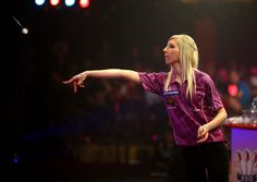 Fallon Sherrock Fallon Sherrock of England in action during her semi final match against Anastasia Dobromyslova of Russia during the BDO Lakeside World Professional Darts Championships on Day Seven at The Lakeside Country Club on January 09, 2014 in Frimley, England.
