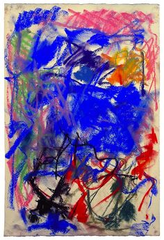 """there-was-a-monster-in-my-bed: """" Travail sur papier - Joan Mitchell """""""