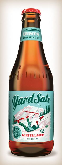 "Uinta Brewing Co. ""Yard Sale"" winter lager."